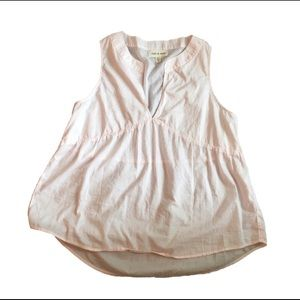 Anthropologie cloth and stone pink top size medium